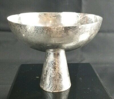 "Hand Wrought Sterling Silver Bowl Signed 5""x4"""