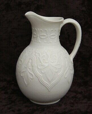 c1864 Antique Victorian WILLIAM BROWNFIELD 'TYROL' Relief Moulded Stoneware JUG