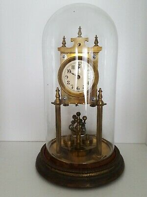 TORSION ANNIVERSARY CLOCK WITH GLASS DOME D.R.P. spares or repair