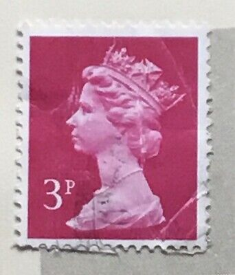 Great Britain stamps - Queen Elizabeth II   3p British penny 1982 red