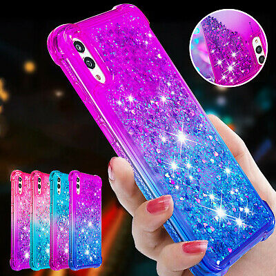 For Samsung S10 Plus Case S9 S8 M20 A10 Glitter Quicksand Soft Rubber Back Cover