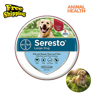 Bayer Seresto Flea and Tick Collar for large Dog,8 Month Treatment Free Shipping