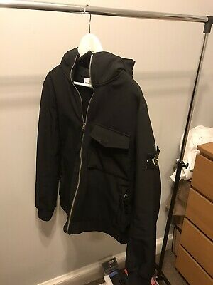 Mens Black Stone Island Soft Shell R Jacket Medium (M) 100% Genuine