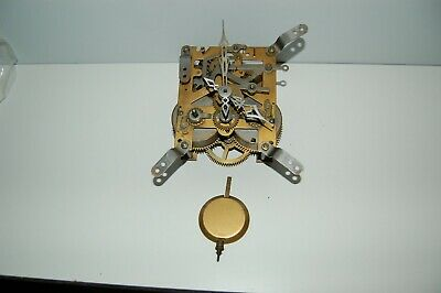 Complete Antique 2 Train Clock Movement with pendulum, follower & hands (MV28)