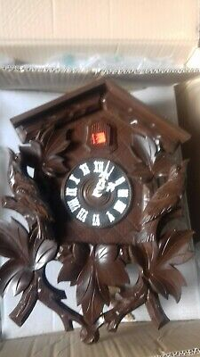 Hubert Herr Black Forest Cuckoo Clock 8 day Large Wood Carved