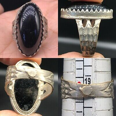Wonderful Old Unique Agate stone Silver Lovely Ring