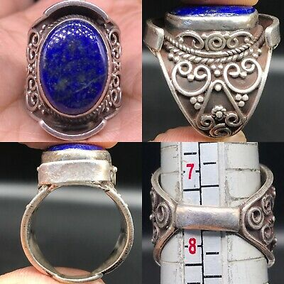 Unique silver Old Beautiful Wonderful Lapis lazuli stone Ring
