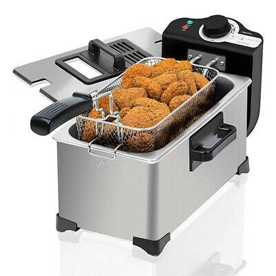 Fritteuse Cecotec Cleanfry 3L 2000W Edelstahl Farbe Grau