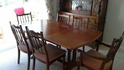 Old Charm Dark Oak Extending Dining Table And 6 Chairs
