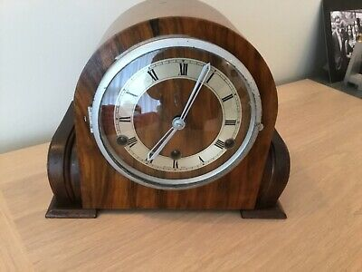 An Art Deco Westminster Chiming Mantel Clock By Perivale Clock Co Original Key