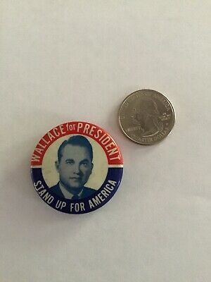 1968 GEORGE WALACE VINTAGE POLITICAL presidential campaign pin