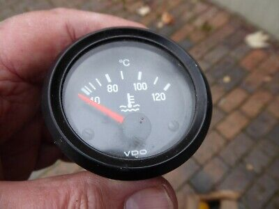 Vdo Cockpit Temp Gauge 310030002 With Metal Body & Red Needle - New Old Stock