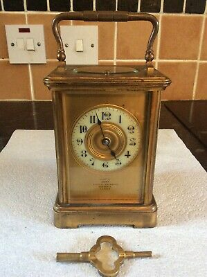 Gilt Brass Striking Carriage Clock With Repeat Feature, Dent, Royal Exchange, Co