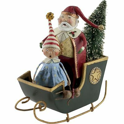 Lori Mitchell Sleigh Ride Santa Claus Christmas Figurine Folk Art Figure