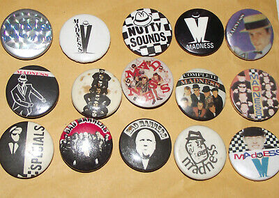 SET OF 4 SKA TWO 2 TONE THE SPECIALS  AKA PUNK SKINHEAD BUTTON PIN BADGES