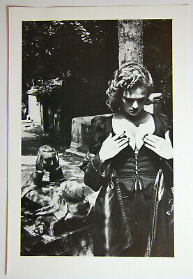 """HELMUT NEWTON: """"Pere Lachaise"""" orig. Photo Litho from Special Collection"""