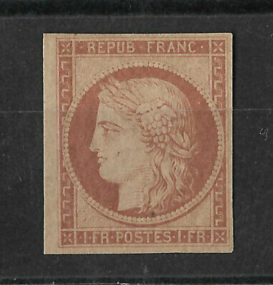 Tres Rare  Timbres  Ceres N 6 A Neuf  Gomme* Cote 8000 Euros Authentique Signe