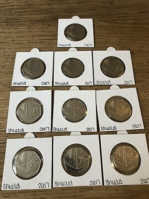 10 X 2017 ROYAL SHIELD OF ARMS 50p coins fifty pence (rarer than Isaac Newton)