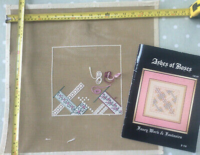 'Ashes of Roses' Canvaswork & Embroidery Chart Booklet - Carol Costello