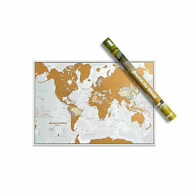 Maps International Scratch the World® Travel Map – Scratch Off World Map Post...