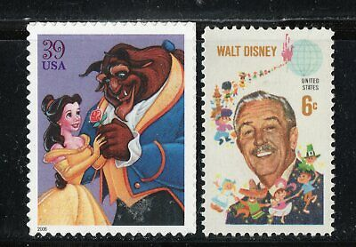 Beauty & The Beast + Walt Disney * Us Postage Stamps Mint