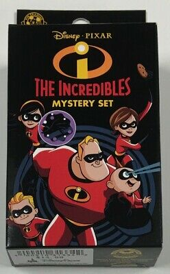Disney Parks The Incredibles 2 Pin Mystery Box Set Disney Pins Factory Sealed
