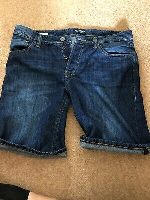 Jack And Jones Mens Denim Shorts 32