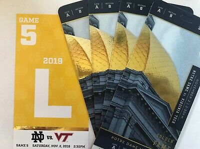 4 Notre Dame vs Virginia Tech plus Library Parking Pass