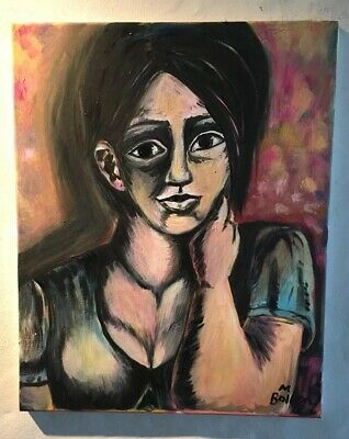 Lost In Thought Original Acrylic Painting By Melissa Bollen Cubism Art Cubist