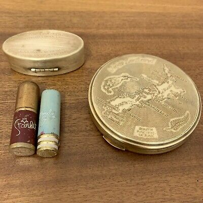 VINTAGE COSMETICS Stratton Compact Lipstick Ponds Starlet Max Factor NZ Make Up