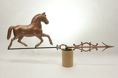 Antique 19th Century Horse Weathervane Topper On Ornate Arrow by MILLER