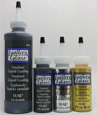 Plaid Simulated Liquid Leading Paint - Black, Gold and Silver