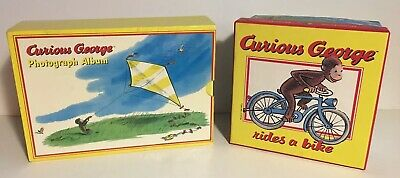 CURIOUS GEORGE PHOTOGRAPH ALBUM SET OF 3 IN SLIPCASE Bonus CURIOUS GEORGE BOX