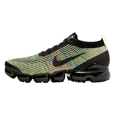 Nike Air Vapormax Flyknit 3 Multi Color Black Volt Pink Green AJ6900-006 SZ 10