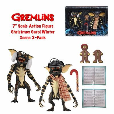 "CHRISTMAS CAROL WINTER SCENE Gremlins 7"" Scale 6"" Action Figure 2-pack Neca 2019"