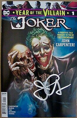 """Joker Year Of The Villain #1"" Nm Signed By John Carpenter!"