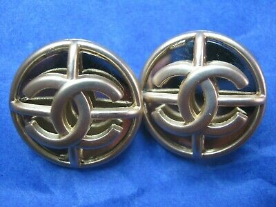 Chanel 2 cc buttons matte gold 18mm lot of 2 good condition