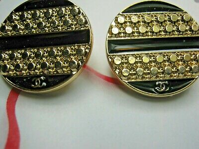 💋💋💋💋Chanel 9 cc buttons gold 20mm lot of 9 good condition💋💋💋💋 A SET OF 9