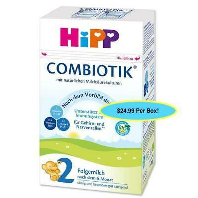 ***FREE EXPEDITED SHIP*** 4 BOXES HiPP Stage 2 Organic Milk Formula Combiotic