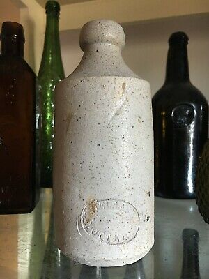 Rare All White Stoneware Ginger Beer Bottle - T. Field & Sons, Potters, SYDNEY