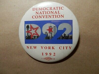 Democratic National Convention 1992 New York Badge/Pin with Twin Towers
