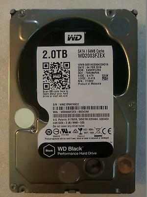 "WD WD2003FZEX 3.5"" Black 2TB Performance Desktop HDD 7200RPM SATA3 64MB Warranty"