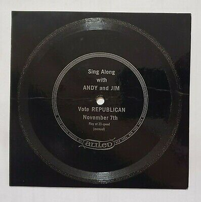 """Republican Campaign Song/Record """"Vote for Andy & Jim"""" - Yonkers, NY - 1967 Promo"""