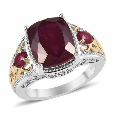 925 Sterling Silver Ruby Cubic Zirconia CZ Promise Ring Gift Size 10 Ct 9.4