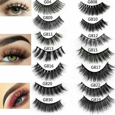 5Pairs 3D Mink Hair False Eyelashes Set Handmade Wispy Cross Long Lashes Makeup