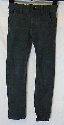 Boys Next Dark Grey Check Denim Adjustable Waist Smart Jeans Age 5 Years