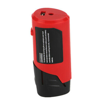 USB Adapter Charger Red Safe Portable ABS For Milwaukee Lithium Battery 12V M12