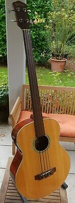 Johnson JAB-100 FE-N Akustik Bass mit eingebautem Tonabnehmer Made in Korea 1985