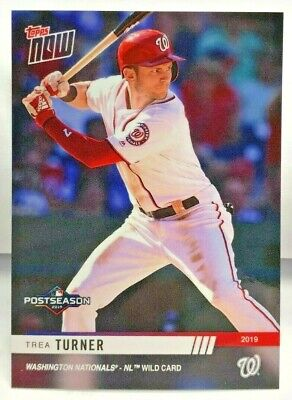 Trea Turner 2019 Topps Now MLB Postseason #PS-84 SP /312 - WASHINGTON NATIONALS