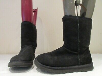 Genuine Ugg Australia Classic Suede Pull On Boots Uk 3.5 Eu 36 (3364)
